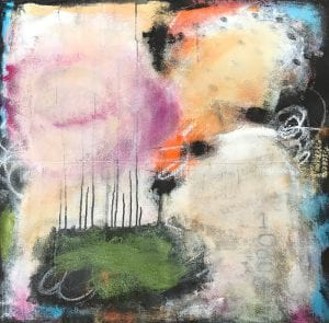 Abstract painting titled Urban Jungle by San Diego painter and artist Ann Golumbuk
