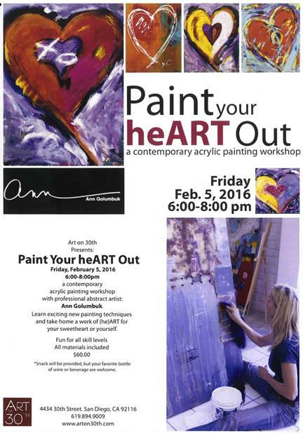 paint your heart out class poster