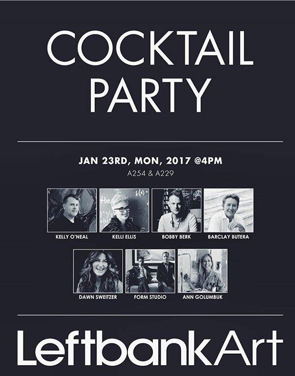 leftbank art cocktail party flyer