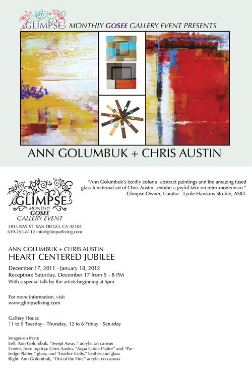 Glimpse Gosee Presents Ann Golumbuk and Chris Austin event poster