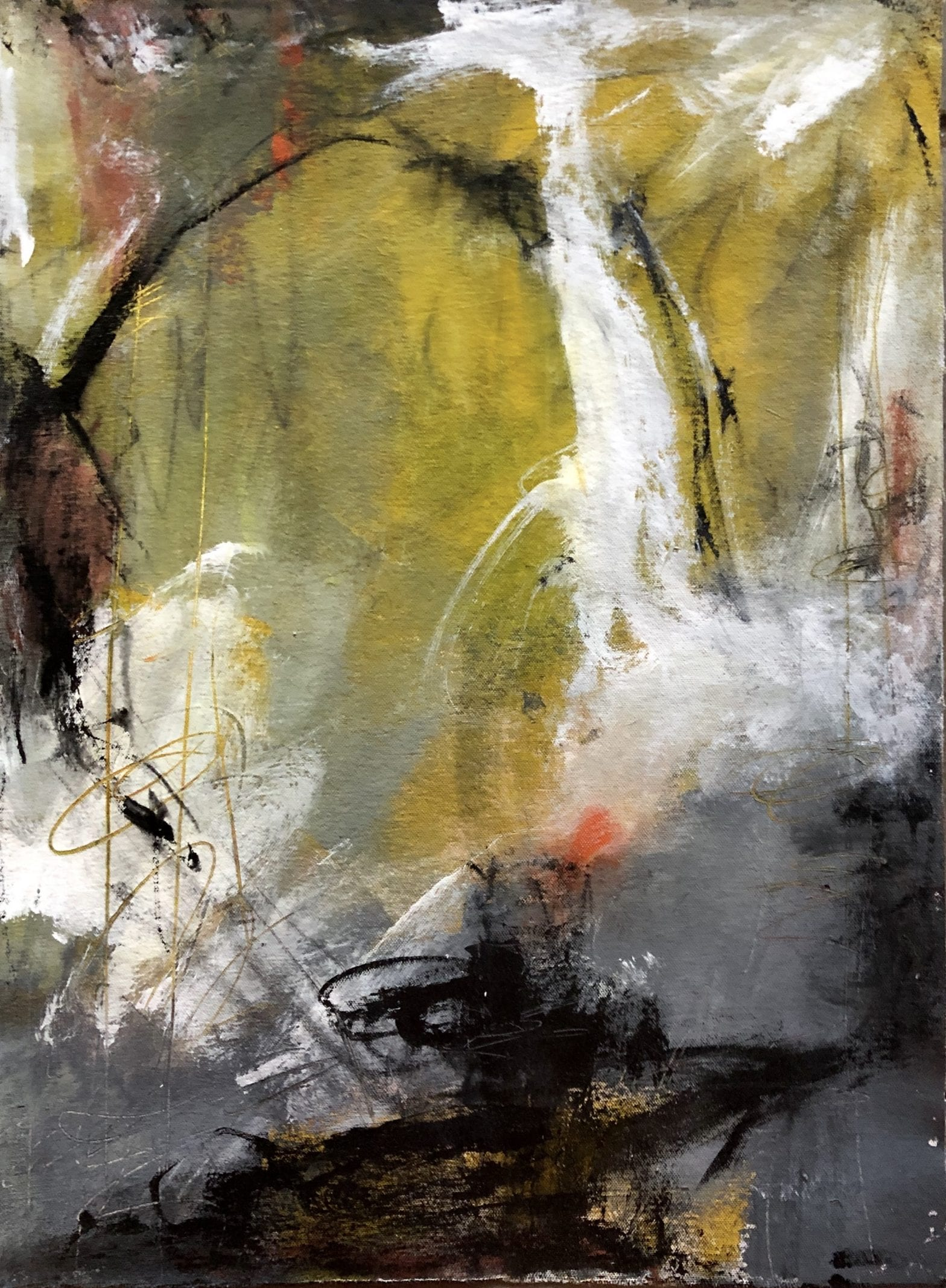 Entranced By The Rain, a painting in the Dangerously Abstract Collection