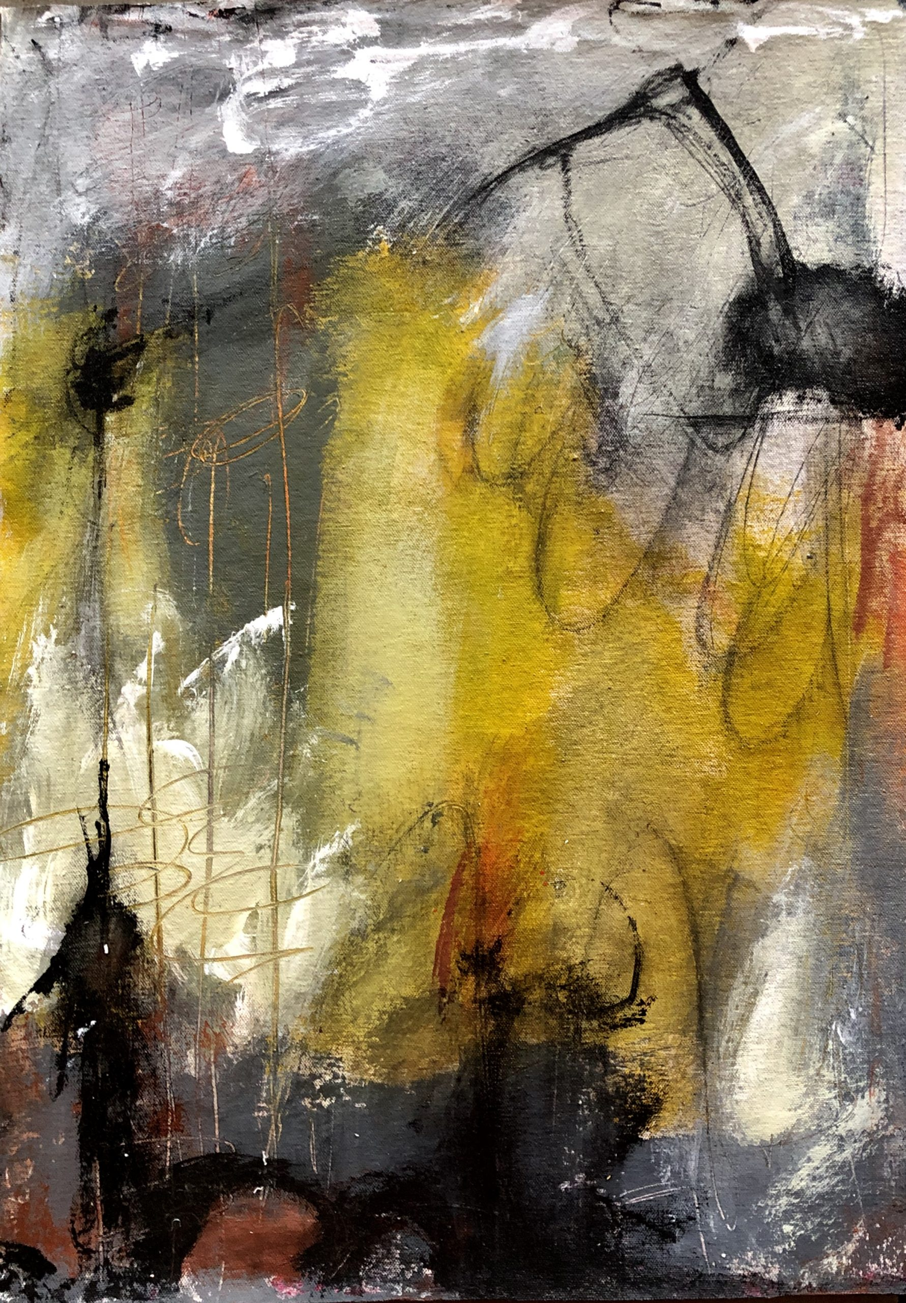 Entranced By the Rain 2, by San Diego abstract artist Ann Golumbuk