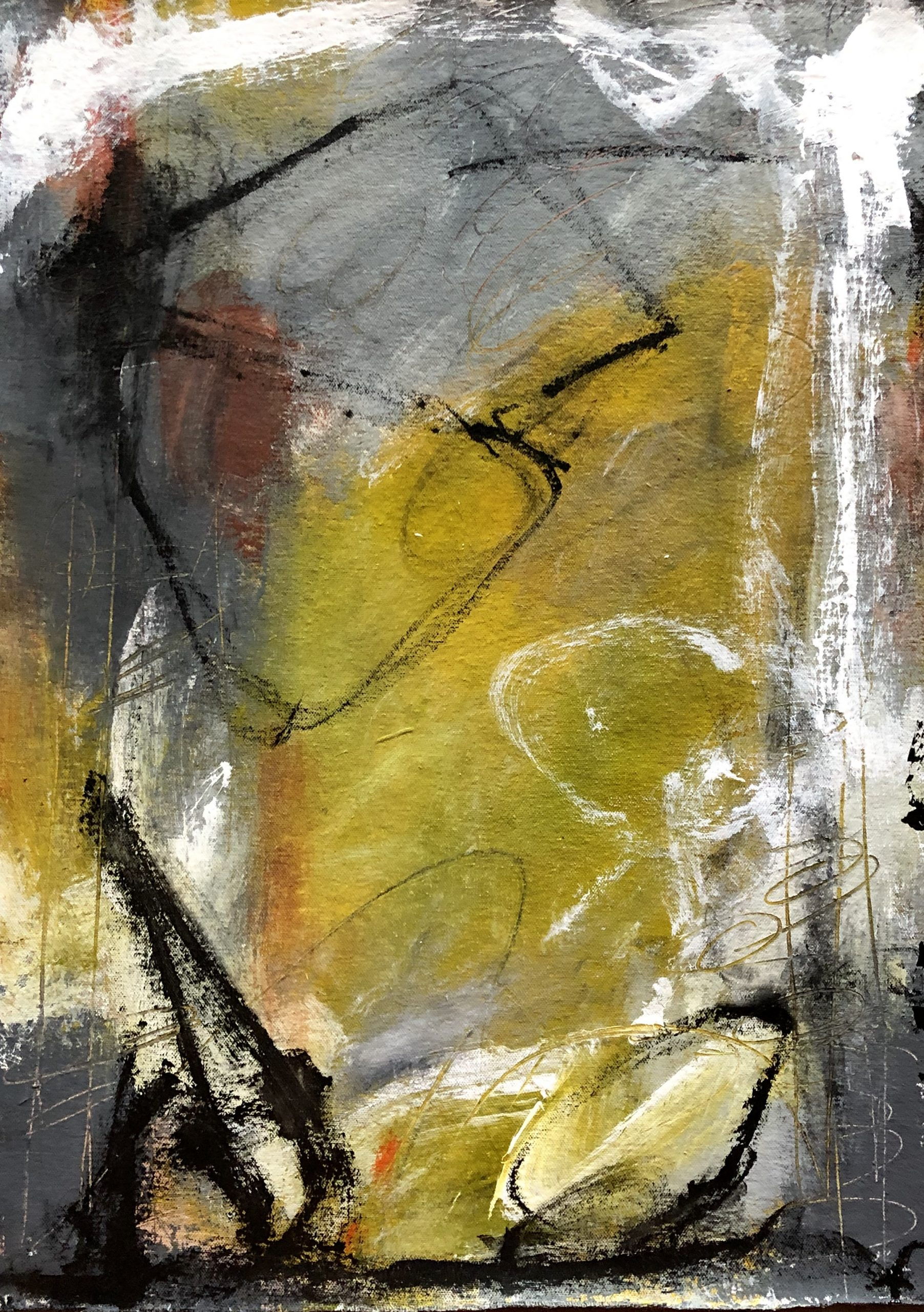 Entranced by the rain 3, an abstract painting
