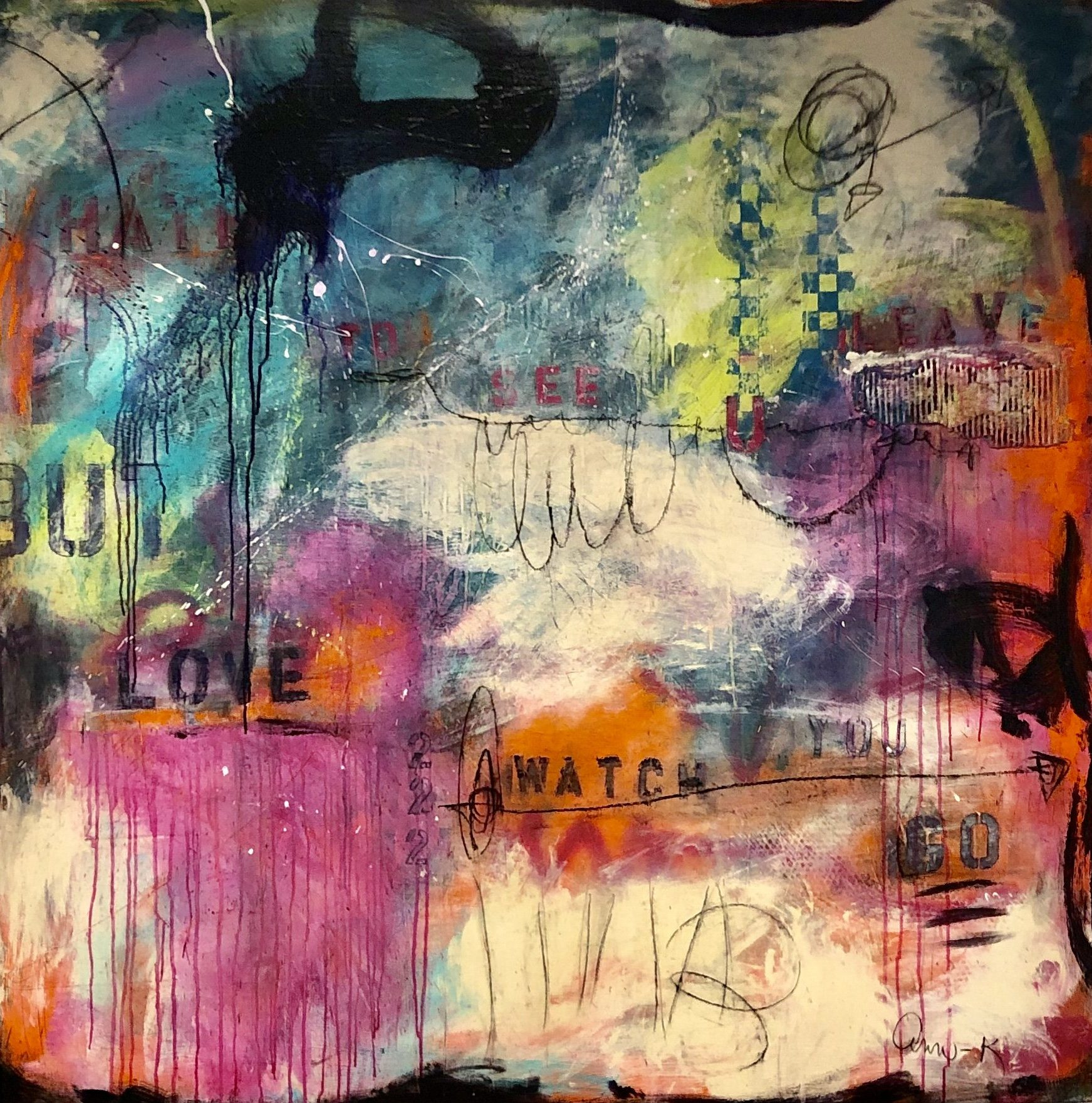 I hate to see you leave, abstract art by Ann Golumbuk
