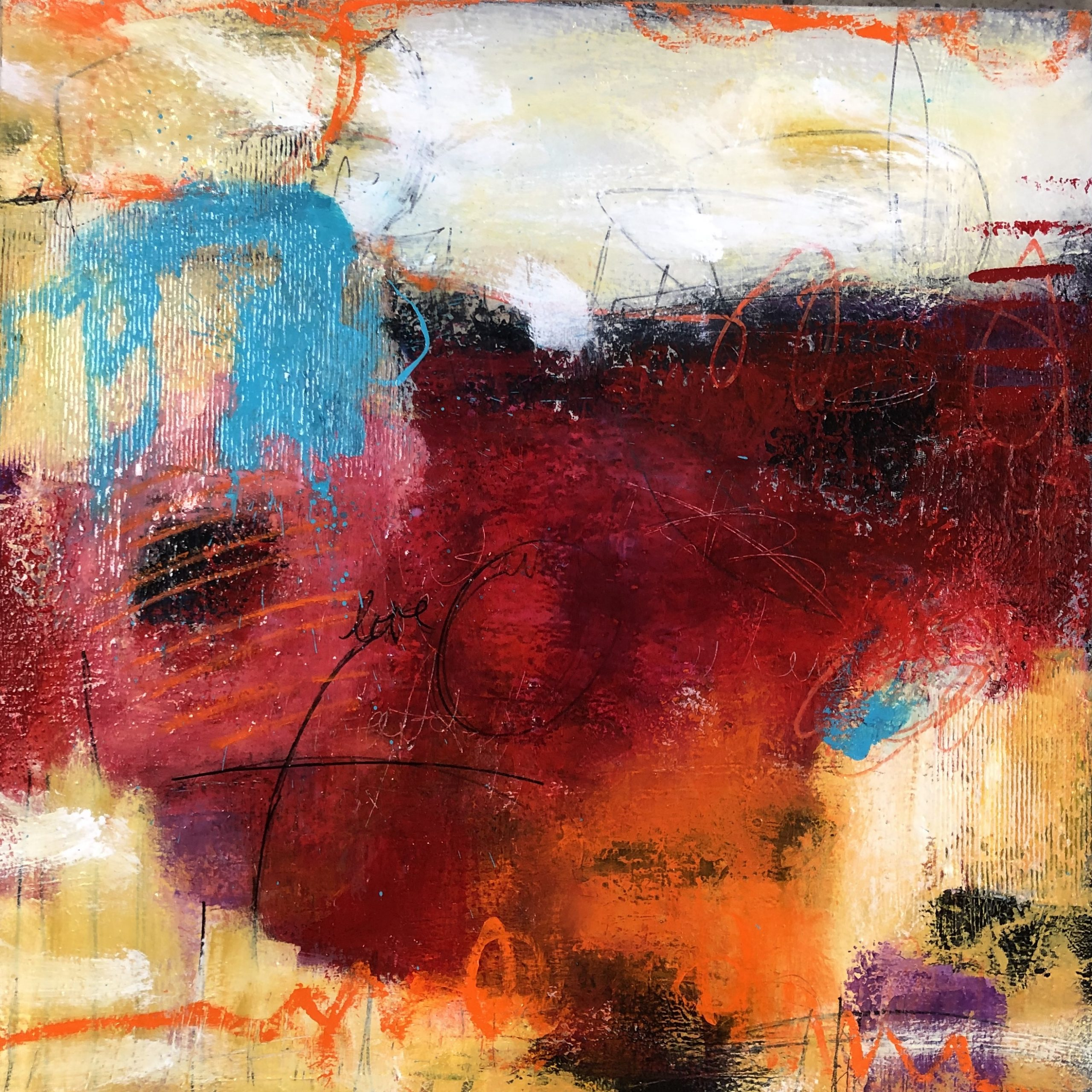 Abstract art titled I am Water but I am Fire by Ann Golumbuk