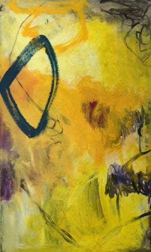Abstract Painting Titled Let the Sun Shine In